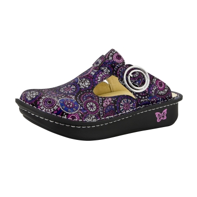 Alegria Classic Spiro Purple Clog