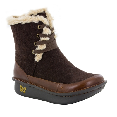 Alegria Twisp Hazelnut Wool Boots